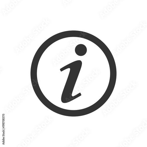 Fototapeta Information icon, info sign, vector illustration. Flat design. obraz
