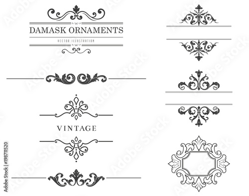 Fototapeta  Vintage Text Frames and Dividers