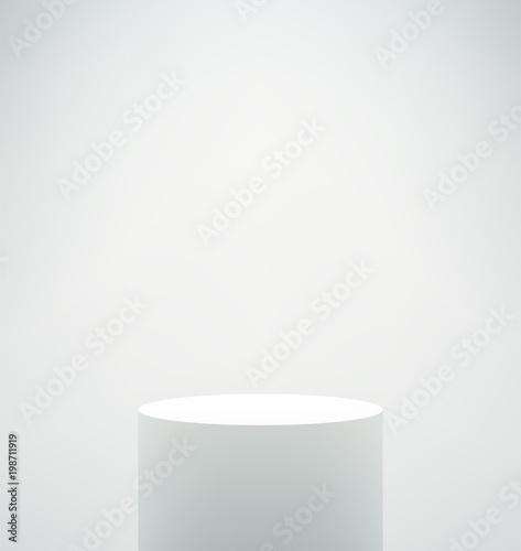 Photo Empty White Podium