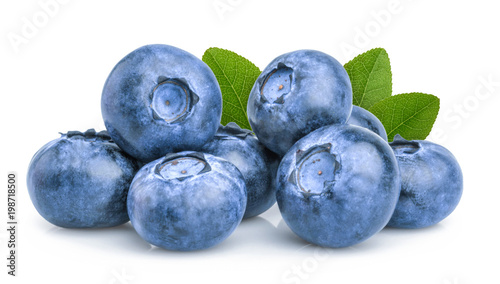 Vászonkép blueberry isolated on white background