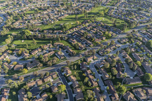 Aerial View Of Homes And Adjac...