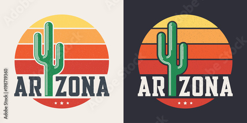 Arizona t-shirt design, print, typography, label with styled sag Canvas Print