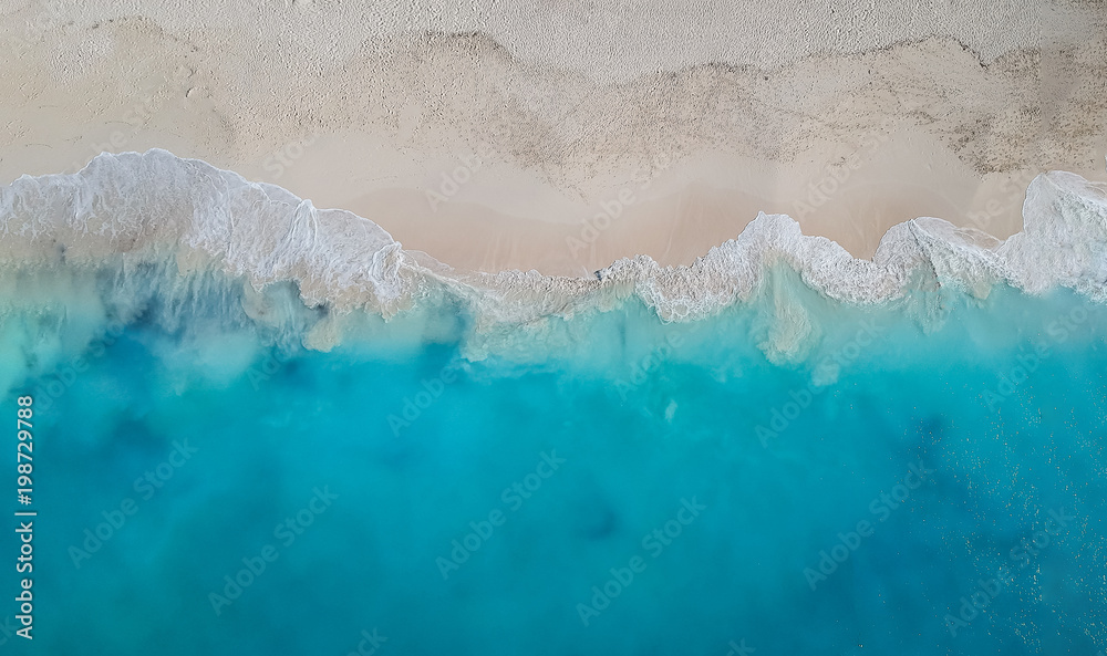Fototapety, obrazy: Drone panorama Grace Bay, Providenciales, Turks and Caicos