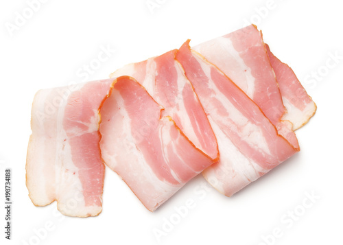 Bacon Isolated on White Background
