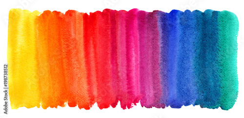 Bright colorful watercolor stains background Slika na platnu