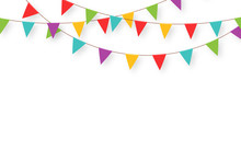 Carnival Garland With Flags. D...
