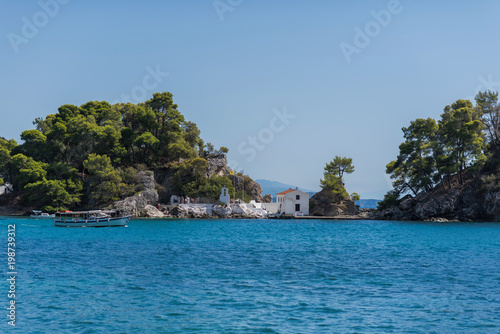 Fototapety, obrazy: Parga, Greece, 14 October, 2017 Panorama of the center of the town of Parga in Greece