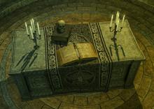 Dark Altar With A Magical Spel...