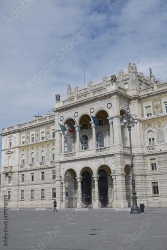 Poster  Trieste, Italy - March 19, 2018 : View of Palazzo della Luogotenenza austriaca b