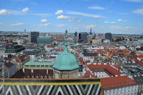 Fototapeta Wiedeń, widok na miasto z  Czarciego Młyna, panorama obraz