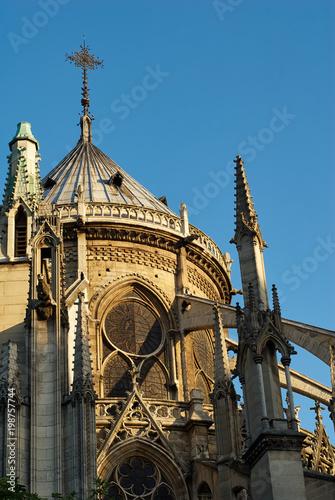 Fényképezés Windows and Buttresses, Notre Dame Cathedral, Paris, France