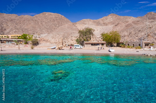 Poster de jardin Europe Méditérranéenne Egypt. Red sea day. Beach, sea, coral reef