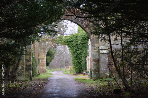 Vászonkép Entrance to Crawford Priory Estate, Cupar