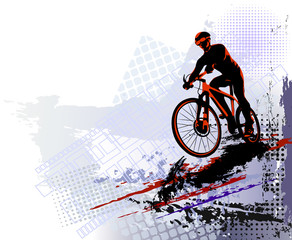 Bicycle race. Biker sport. ...