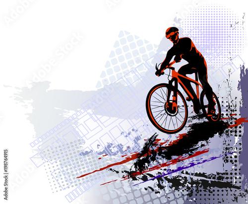 Bicycle race. Biker sport. ...