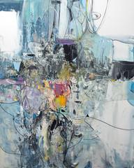 Panel Szklany Podświetlane Do biura Modern background - abstract painting