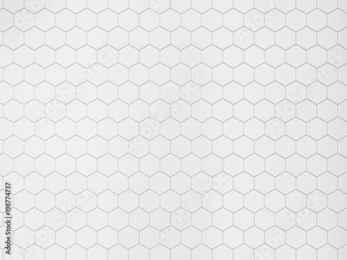 Fotografija White hexagonal tile