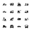 Transport icon set. Can be used for topics like industry, construction, carrying capacity, machine, service