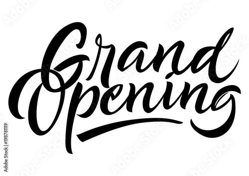 Fotografía  Grand opening lettering