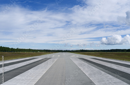Aviation: Runway of the small airfield on Laesoe island Wallpaper Mural