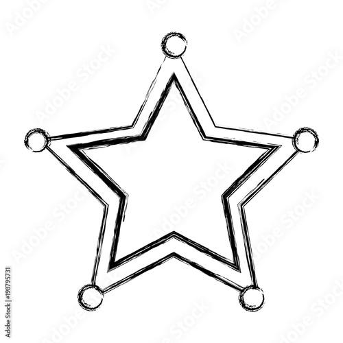 grunge western sheriffs star object symbol - Buy this stock
