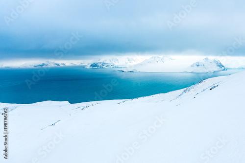 Fotobehang Wit Beautiful landscape and scenery in Antarctica