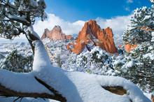 Winter Wonderland At The Garden Of The Gods
