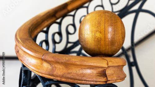 Canvas-taulu pommeau de rampe d'escalier
