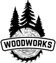 Woodworks. Emblem Template Wit...