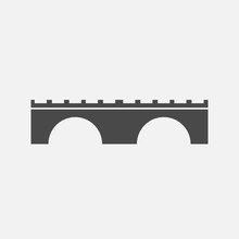 Bridge Icon River Cross Pathway Vector