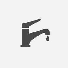 Faucet Tap Vector Icon Tap Water