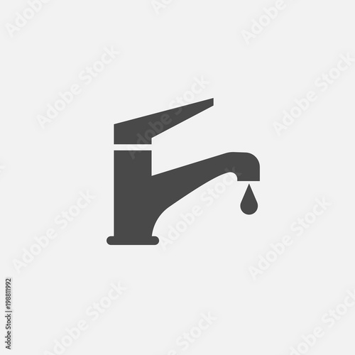 Fotografie, Obraz faucet tap vector icon tap water