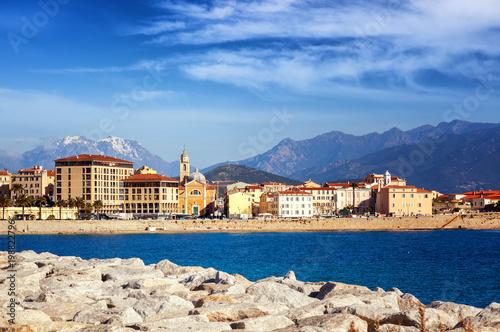 Beautiful cityscape, Ajaccio is the capital of Corsica Wallpaper Mural