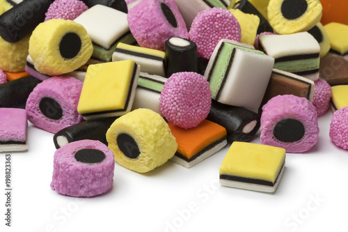 Photo Heap of Liquorice allsorts