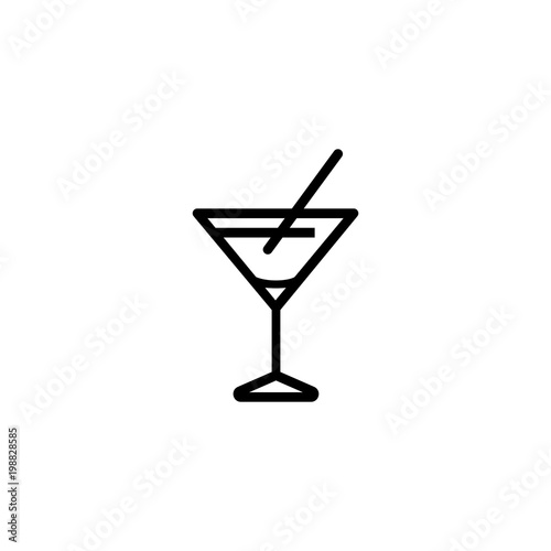 Foto  Martini glass icon