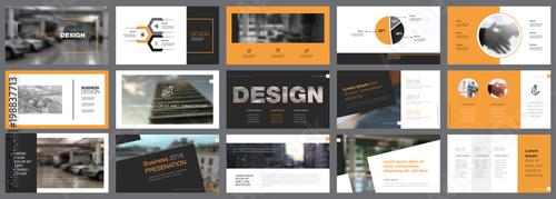 Fototapeta Fifteen Startup Slide Templates Set obraz