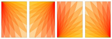 Abstract Color Illustration Set. Gradient 3d Colors. For A4 Paper.