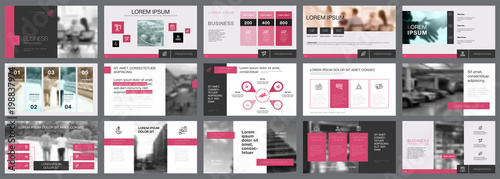 Vászonkép Fifteen Teamwork Slide Templates Set