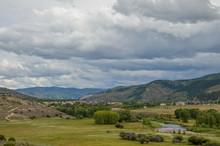 Eagle River Valley In Rocky Mountains Scenic View  Avon, Eagle County, Colorado