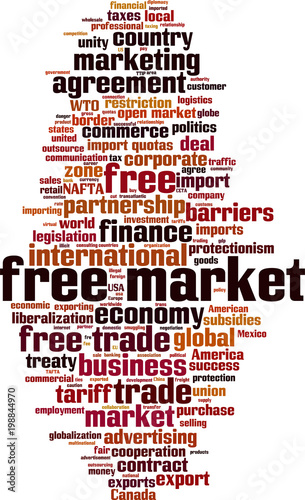 Free Market Word Cloud Buy This Stock Vector And Explore Similar