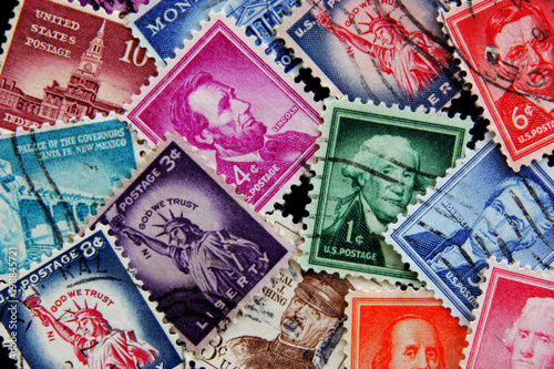 Old Post Stamps Of Usa Postage Stamps Liberty Collection