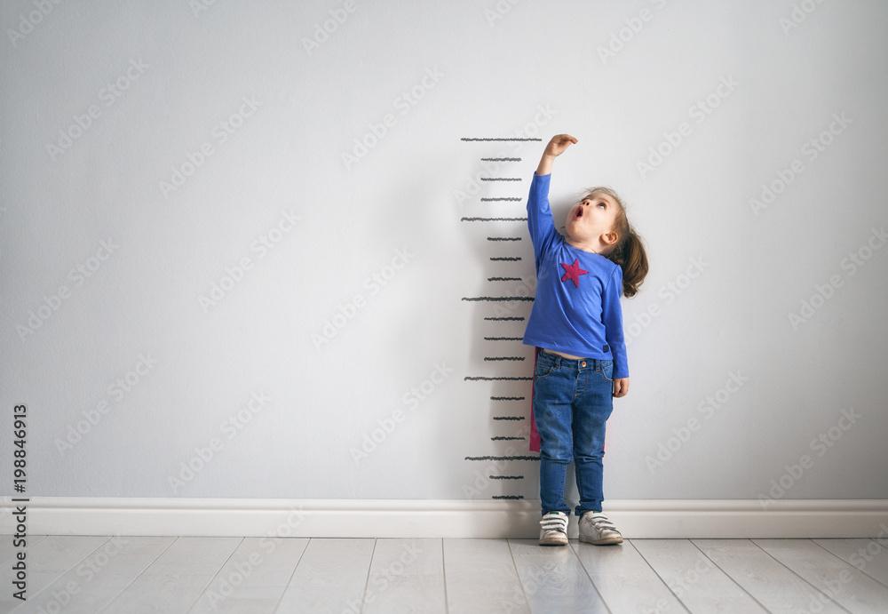 Fototapety, obrazy: child is playing superhero