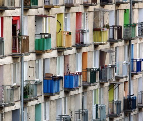 kolorowe balkony Obraz na płótnie