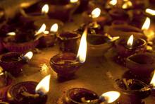 Candles At Meenakshi Hindu Temple In Madurai, Tamil Nadu