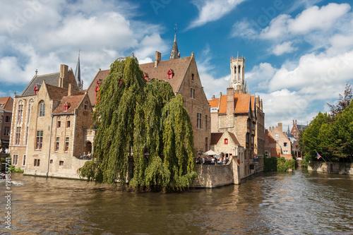 Fotobehang Brugge Architectural sights of Bruges.
