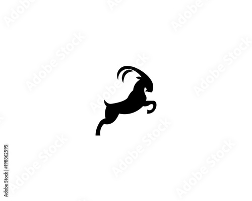 Goat Head Silhouette Logo - Buy this stock vector and explore