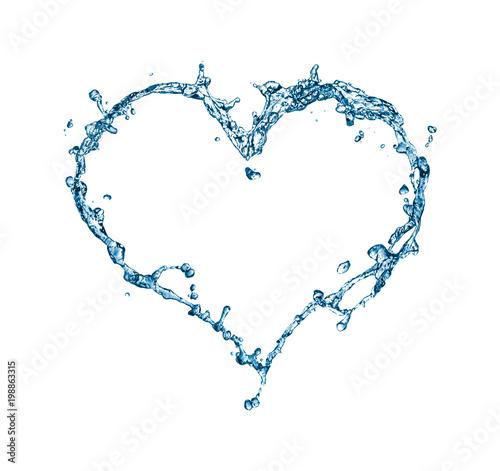 Papiers peints Eau Splash of water in the form of a heart.