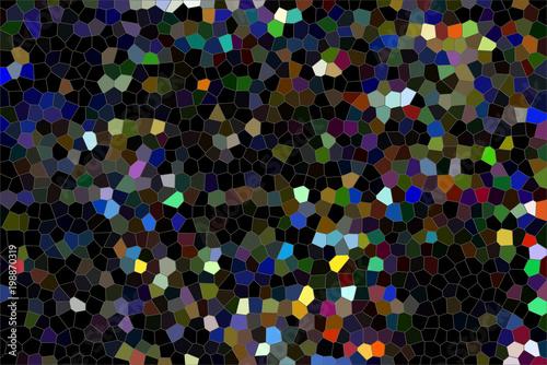 Papiers peints Noir Mosaïque multicolore