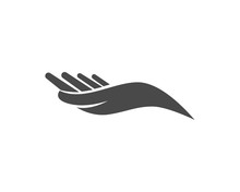 Hand Icon Vector, Flat Design Best Vector Icon,,