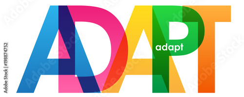 ADAPT Vector Letters Icon Canvas Print